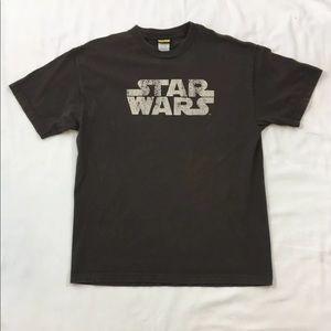 Men's Large Brown Star Wars Shirt Brown